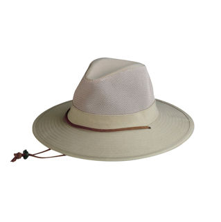 8901-Cotton Twill Brim & Mesh Crown Hat