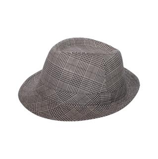 8912-Men's Plaid Fedora Hat