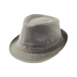 8922B-Washed Fedora Hat W/Distressed Look