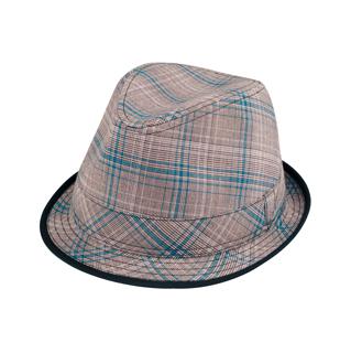 8924-Plaid Fedora Hat