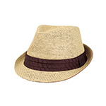 Toyo Fedora Hat W/Pleated Band