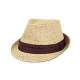 Toyo Fedora Hat W/Pleated Band