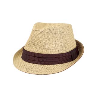 8937-Toyo Fedora Hat W/Pleated Band