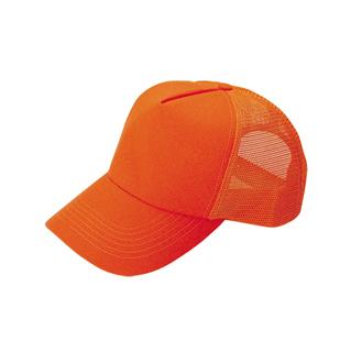 9006NM-5 Panel Pro Style (Str) Neon Orange Trucker Cap