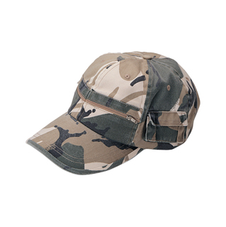9014-Casual Style Camouflage Twill Washed Pocket Cap