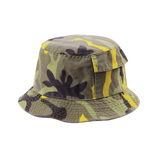 9016-Camouflage Twill Washed Bucket Hat