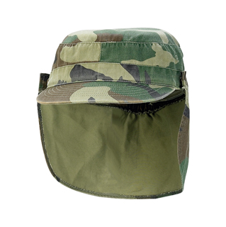9030-Army Cap With Removable Flap