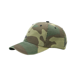 9031-Enzyme Washed Camouflage Cap