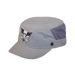 9043-Brushed Canvas Fashion Army Cap