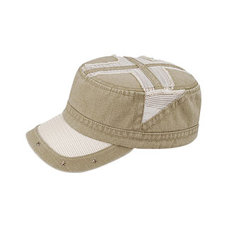9054B-Heavy Washed Army Cap