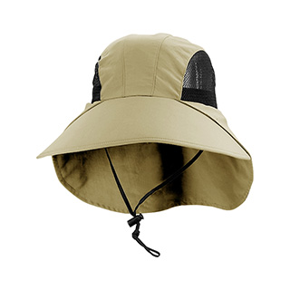 J7003-Juniper Large Bill Flap Cap w/ Mesh Side Panels