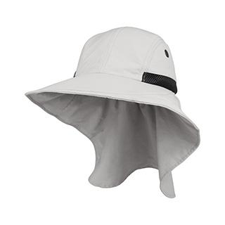 J7213B-Juniper Ladies' Nylon Wide Brim Flap Cap