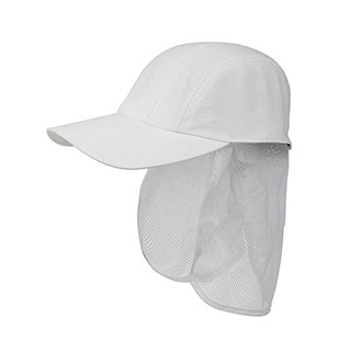 J7216-Juniper Taslon UV 5 Panel Cap w/ Mesh Tuck Away Flap
