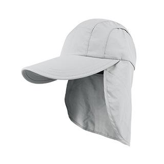 J7220-Juniper Taslon UV Cap w/ Flap & Draw String