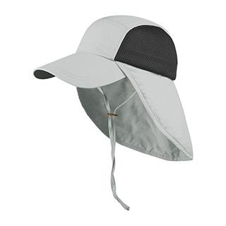 J7222-Juniper Taslon UV Cap w/ Flap & Chin Cord