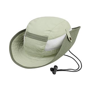 J7225-Juniper Taslon UV Bucket Hat w/ Zipper Pocket