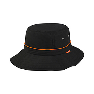 J7226-Juniper Taslon UV Bucket Hat w/ Adjustable Draw String