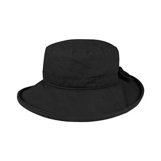 J9704-Juniper Waxed Cotton Canvas Ladies' Wide Brim Bucket Hat