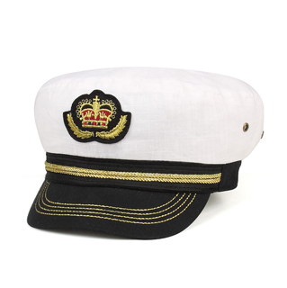 2143-Linen Captain Hat