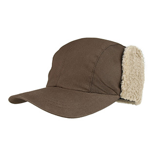 J9706-Juniper Waxed Cotton Canvas Cap w/ Ear Flap