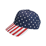 Low Profile (Uns) USA Flag Print Twill Cap