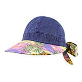 Ladies' Printed Flower Large Peak Hat