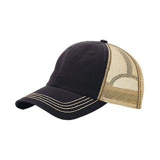 6894-Washed Cotton Twill Trucker Cap