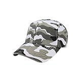 Low Profile (Unstructured) Washed Camouflage Cap