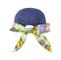 Back - 7671B-Ladies' Printed Flower Large Peak Hat