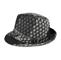 Side - 8936-Jacquard Fedora Hat