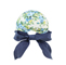 Back - 7671A-Ladies' Printed Flower Large Peak Hat