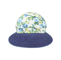 Front - 7671A-Ladies' Printed Flower Large Peak Hat