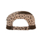 Back - 9050-Ladies' Washed Canvas Leopard Print Army Cap