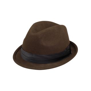 2520-Ladies Wool Felt Fedora Hat