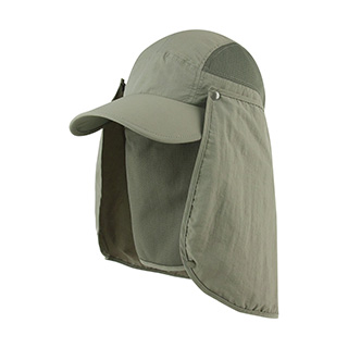 J7239-Juniper Taslon UV Cap w/ Removable Neck Flap