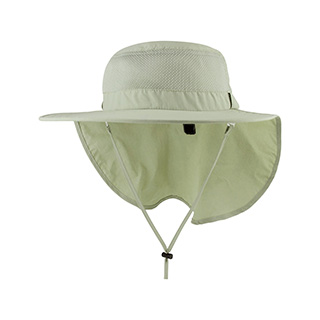 J7243-Juniper Taslon UV Large Bill Hat w/ Roll-Up Flap