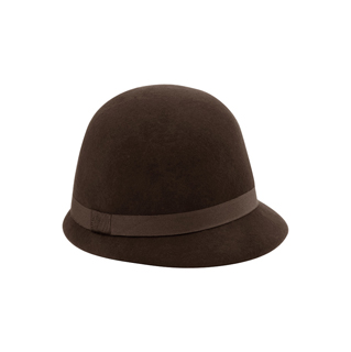 2521-Ladies' Wool Felt Cloche Hat