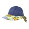 Main - 7671B-Ladies' Printed Flower Large Peak Hat
