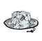 Main - 7842A-Flower Print Brushed Twill Cotton Reversible Wide Brim Hat