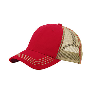 6894-Washed Cotton Twill Trucker Cap