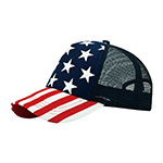 5 Panel Foam Trucker USA Cap