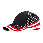 6 Panel (Stru) Cotton Twill USA Flag Cap