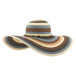8234-Ladies' Toyo Braid Color Block Sun Hat