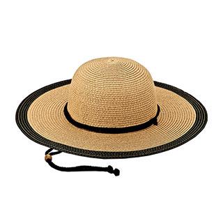 8237-Ladies' Toyo Braid Color Block Sun Hat