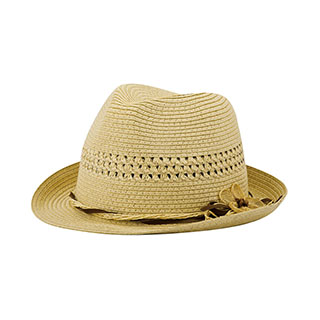 8954-Ladies' Toyo Braid Fedora Hat