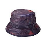Multi-Color Cut & Sewn Lambskin Bucket Hat