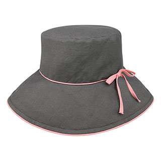 6607-Ladies' Linen Wide Brim Hat