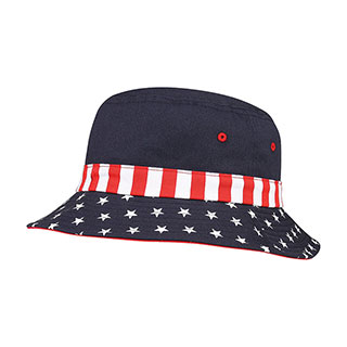 7801F-USA Flag Bucket Hat
