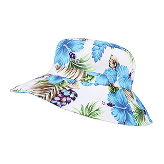 7904G-Ladies' Wide Brim Floral Hat
