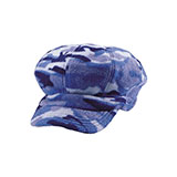 Camo Fleece Newsboy Cap